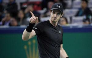 Murray en su partido ante el franc�s Lucas Pouille