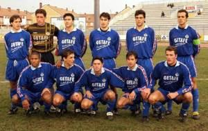 Once del Getafe que se enfrent� al Lugo en la temporada 1997/98 en el...