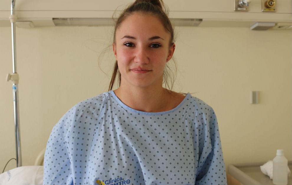 Roxana Popa, antes de la intervención en la clínica CEMTRO de...