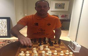 Francisco Vallejo durante una partida de ajedrez.