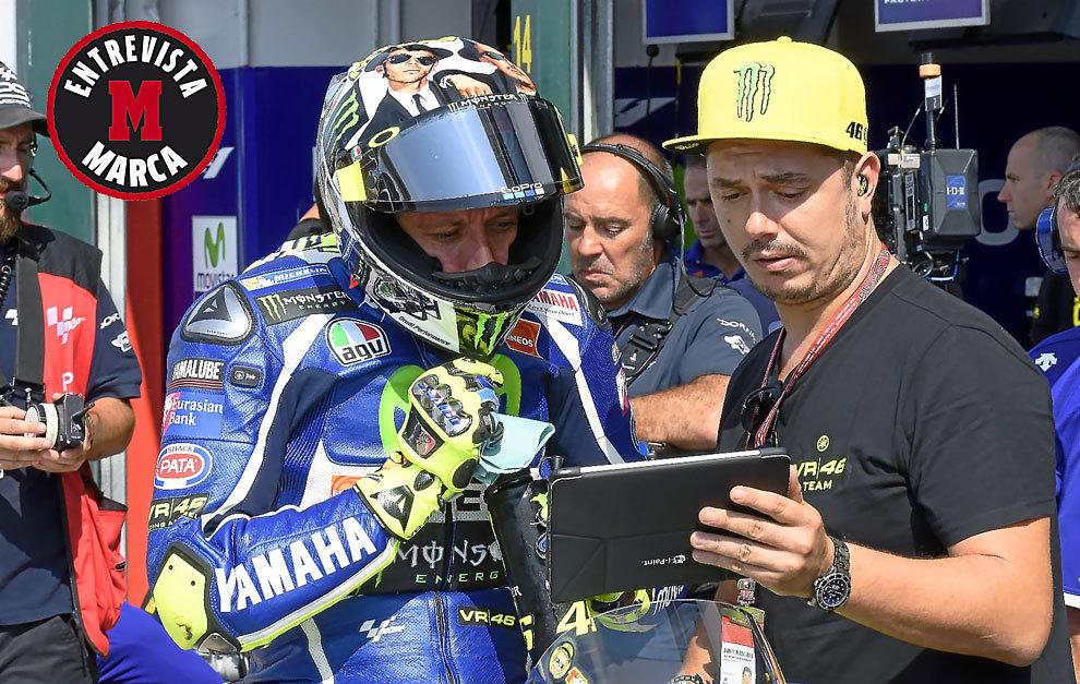 Uccio Salucci, junto con Valentino Rossi