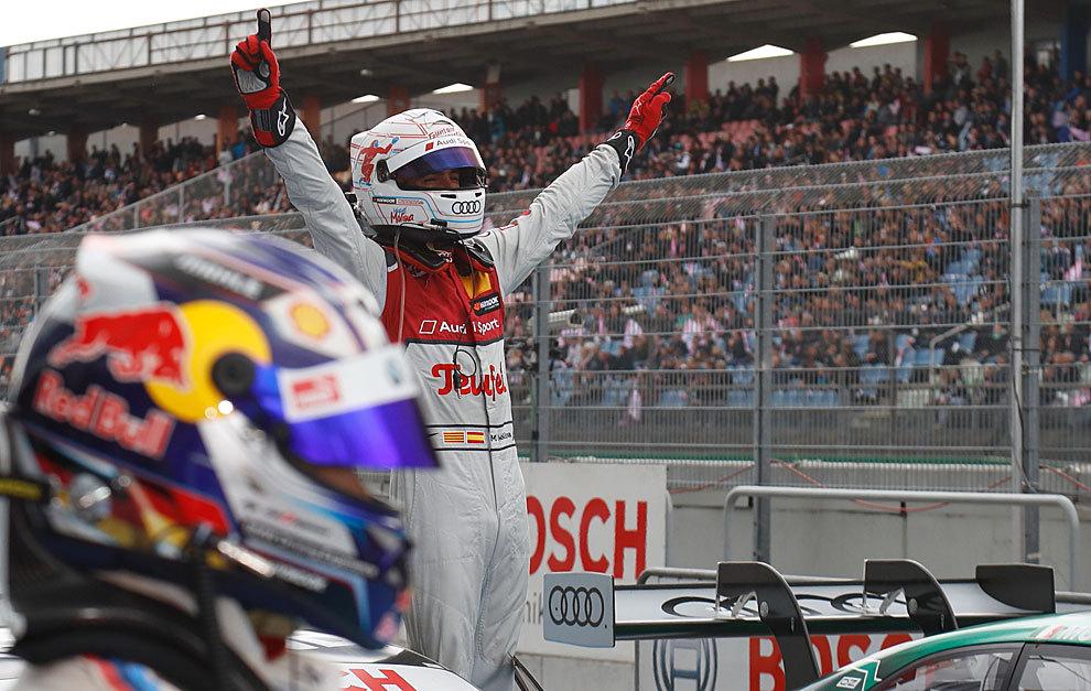 Miguel Molina celebra su victoria en Hockenheim.