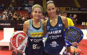 Alejandra Salazar y Marta Marrero en el torneo de Sevilla.