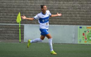 Luana Spindler celebra un gol con el Granadilla Egatesa esta...