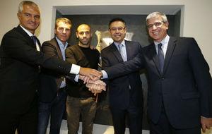 Javier Bordas, Robert Fern�ndez, Javier Mascherano, Josep Mar�a...