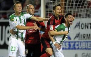 Markovic, durante el partido del C�rdoba en Anduva de la pasada...