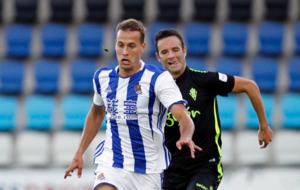 Sergio Canales durante un amistoso ante el Sporting
