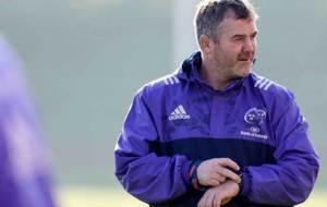 Anthony Foley, durante una sesi�n de entrenamiento con Munster
