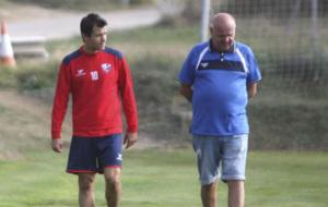 Camacho durante un entrenamiento del Huesca