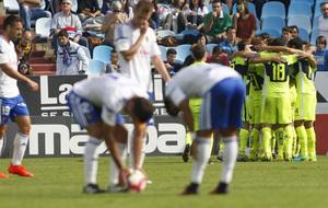 Los jugadores del Elche celebrando la �ltima victoria contra el...