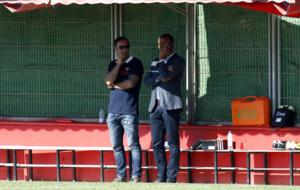 El consejero delegado del Mallorca, Maheta Molango, sigue un...