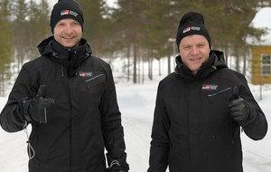 Hänninen y su nuevo jefe, el tetracampeón mundial Tommi Mäkinen