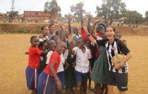 Patricia Campos durante su estancia en Uganda.