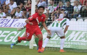 Borja Lasso, celebrando un gol ante el C�rdoba.