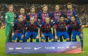 El once de gala del Barcelona.