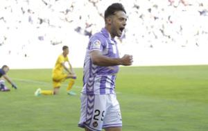 Jose celebrando un gol en el Estadio Jos� Zorrilla