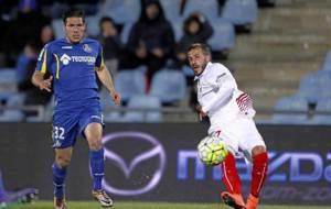 Emi Buend�a, en el partido ante el Sevilla de la pasada temporada