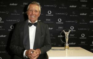 Gary Player, durante la ceremonia de entrega de los Premios Laureus de...