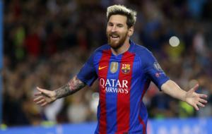 Messi logr� un Hat - trick