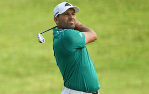 Sergio Garc�a durante la primera jornada del torneo de Kuala Lupur.
