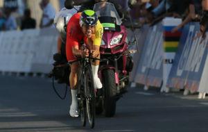 Jonathan Castroviejo, la semana pasada en el Mundial de Doha.