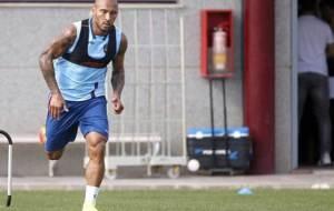 Rafael Martins, haciendo carrera continua durante un entrenamiento