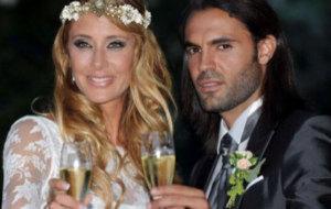 Elisabeth Reyes y Sergio S�nchez en su boda