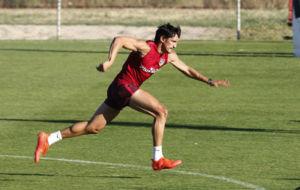 Savic, durante un entrenamiento con el Atl�tico.
