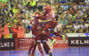 ElPozo celebra un gol durante un partido.