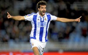 Prieto celebrando un gol durante esta temporada