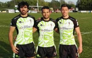 Carri�n, Sempere y Tudela, durante un torneo en Inglaterra con el...