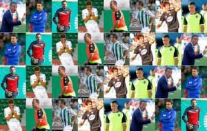 Montaje con Oltra, Toril, Juan Carlos, Pelayo, Nino, Juli, Luso y...