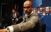 Pep Guardiola comparece en una rueda de prensa de Champions.
