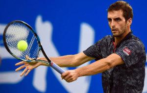 Albert Ramos durante un partido en el Chengdu Open
