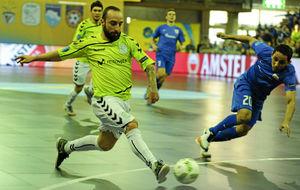 Ricardinho, durante la final de la pasada UEFA Futsal Cup ante el Ugra...