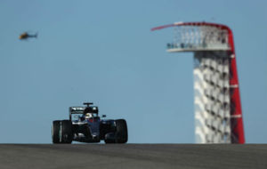Lewis Hamilton pilota su Mercedes en el Circuito de las Am�ricas de...