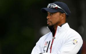 Tiger Woods, hace unas semanas como vicecapit�n de la Ryder Cup.