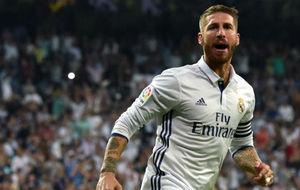 Ramos celebrando un gol esta temporada
