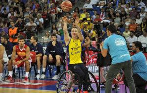 Terry Bywater durante el concurso de triples de la Supercopa ACB