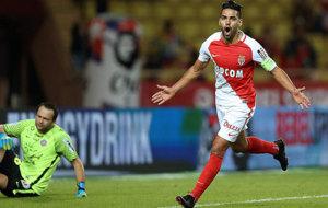 Falcao celebra el gol marcado ante el Montpellier.