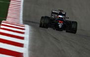 Alonso pilota su McLaren en el Circuito de las Am�ricas.