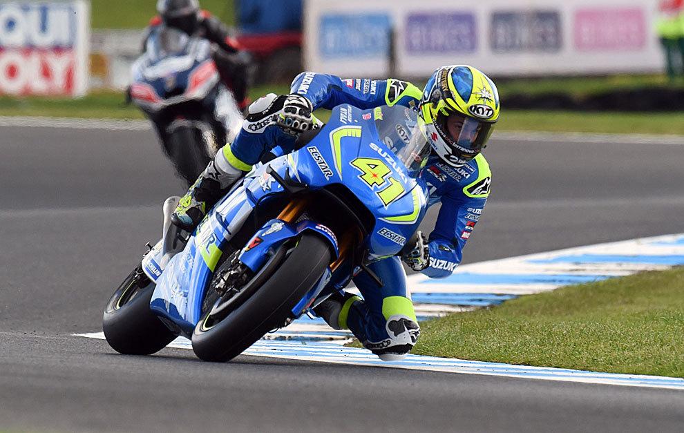 Aleix Espargaró, sobre la Suzuki en Phillip Island