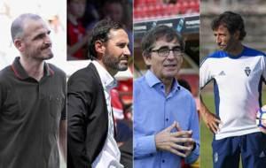 Fernando Soriano, Vicente Moreno, Fernando Vázquez y Luis Milla