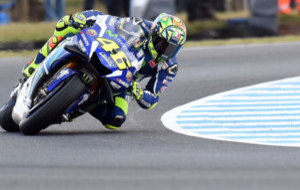 Valentino Rossi naufrag� en Phillip Island