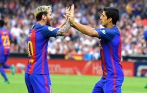 Messi y Su�rez, art�fices del triunfo in extremis del Bar�a en...