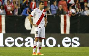 Trashorras, en el partido de LaLiga contra el Numancia.