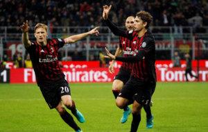 Locatelli celebra su gol a la Juventus.