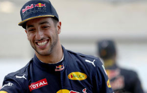 Ricciardo, despu�s de ser tercero en la sesi�n de calificaci�n de...