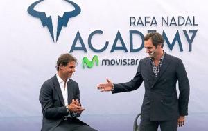 Nadal y Federer, esta semana en Manacor, en la apertura de la academia...