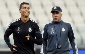 Carlo Ancelotti y Cristiano, en el Real Madrid.